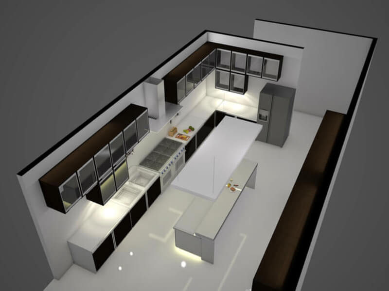 4 Commercial Kitchen Layouts
